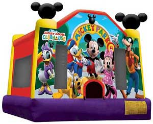 Party Rentals Miami nicky look like Disney World in bounce house