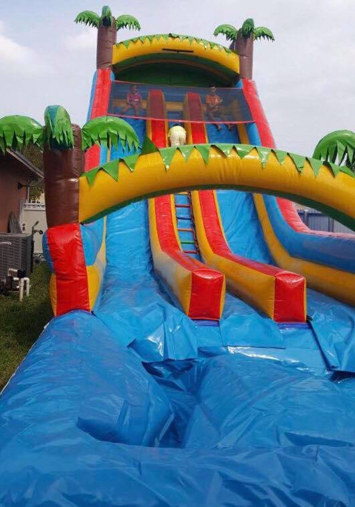 DOUBLE WATER SLIDE 24 FT TROPICAL