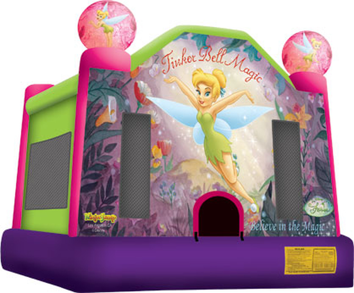 Tinker Bell bounce house full face