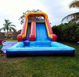 Inflatable waterslides are intended for partiers that don't like to jump around on a bounce house and moderately like getting wet