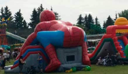 Spiderman bounce house inflatable