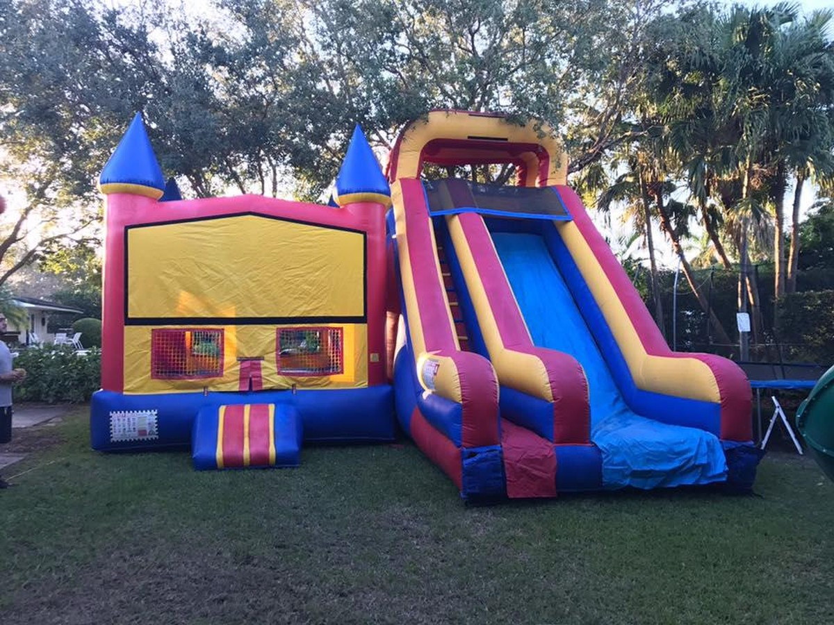heavier bounce houses increase stability