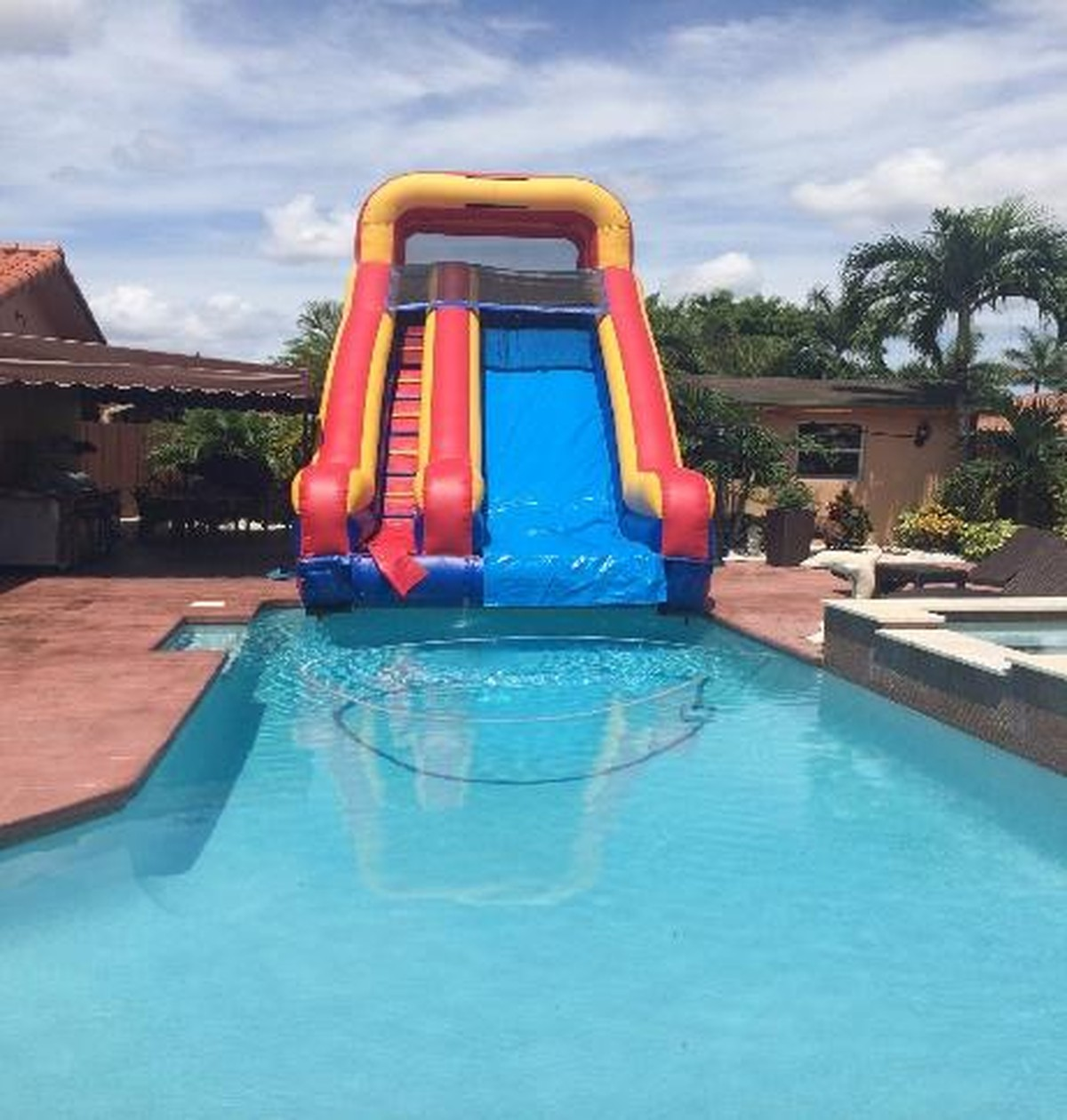 slide into a pool inflatables