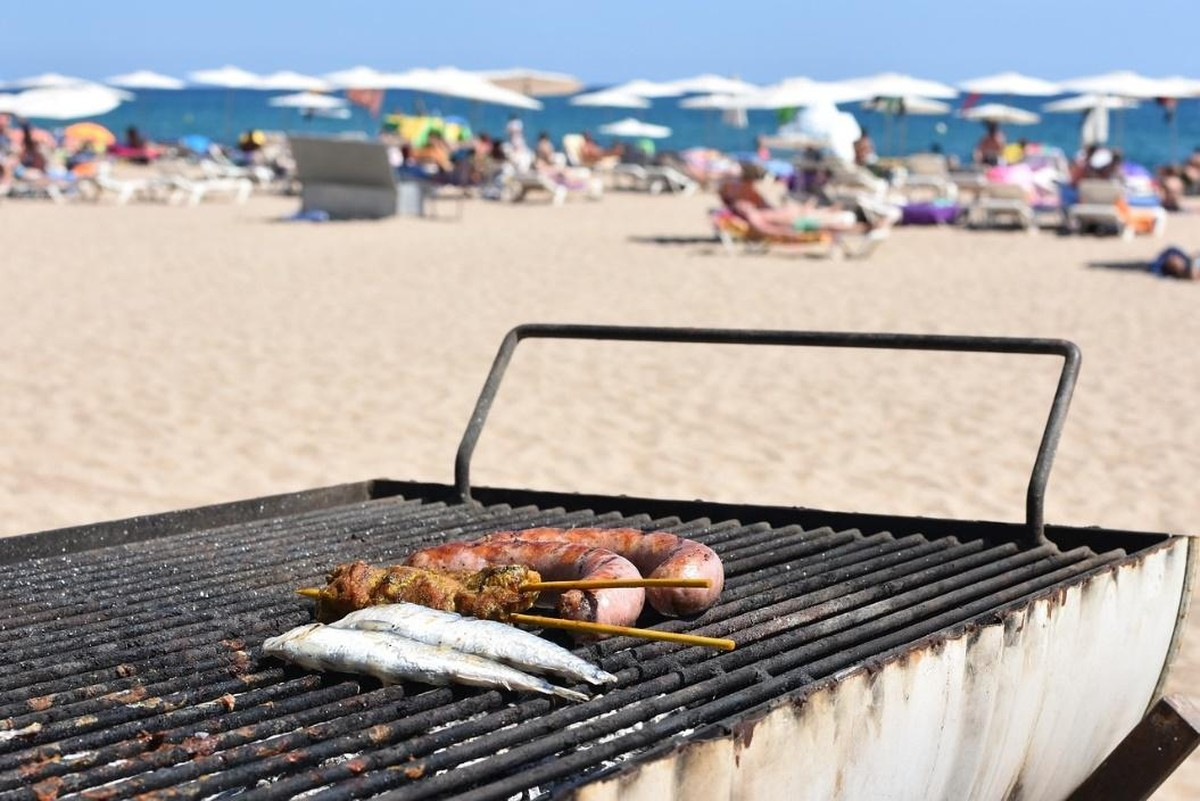 summer barbecue at the beach