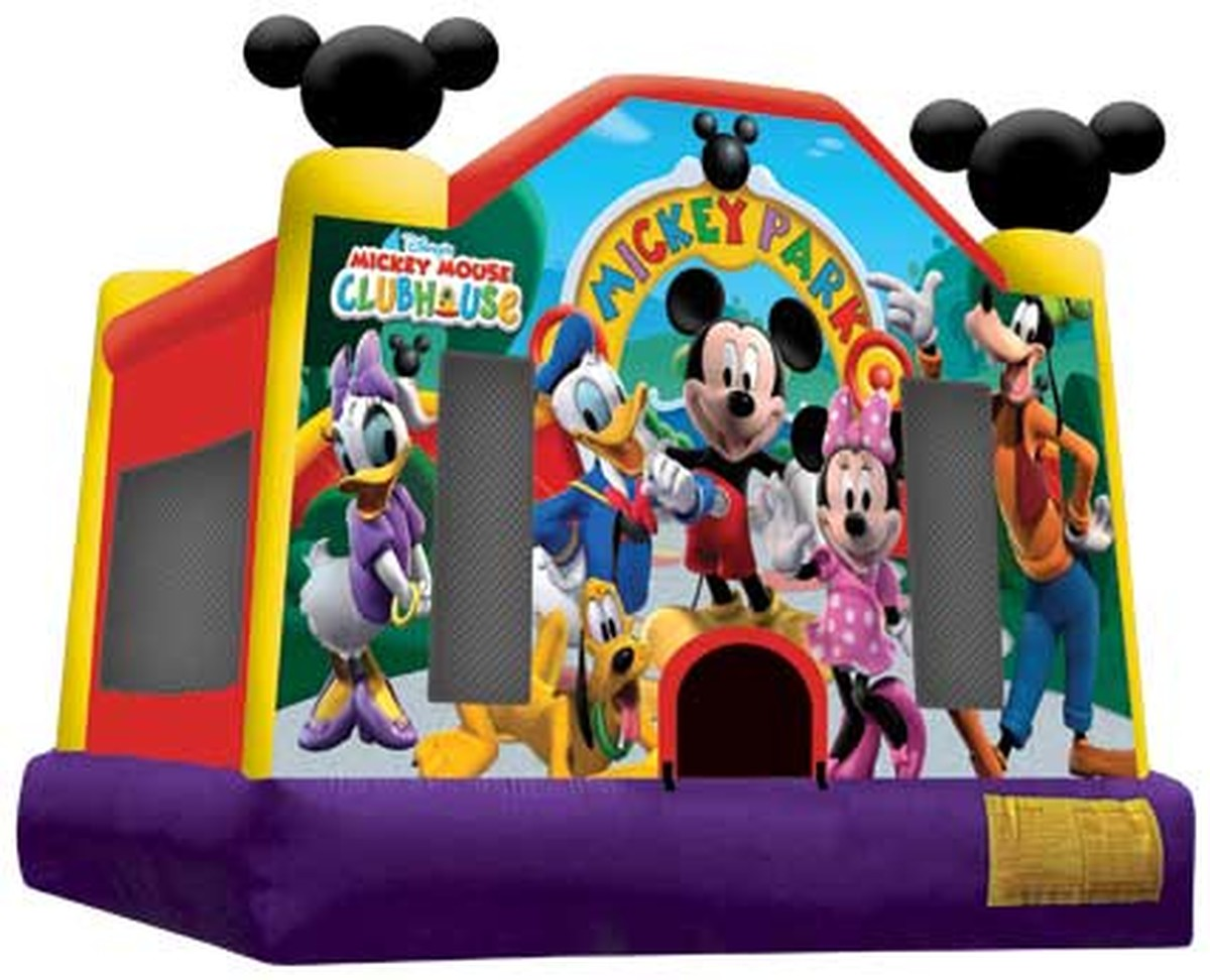 Mickey Mouse bounce house full face