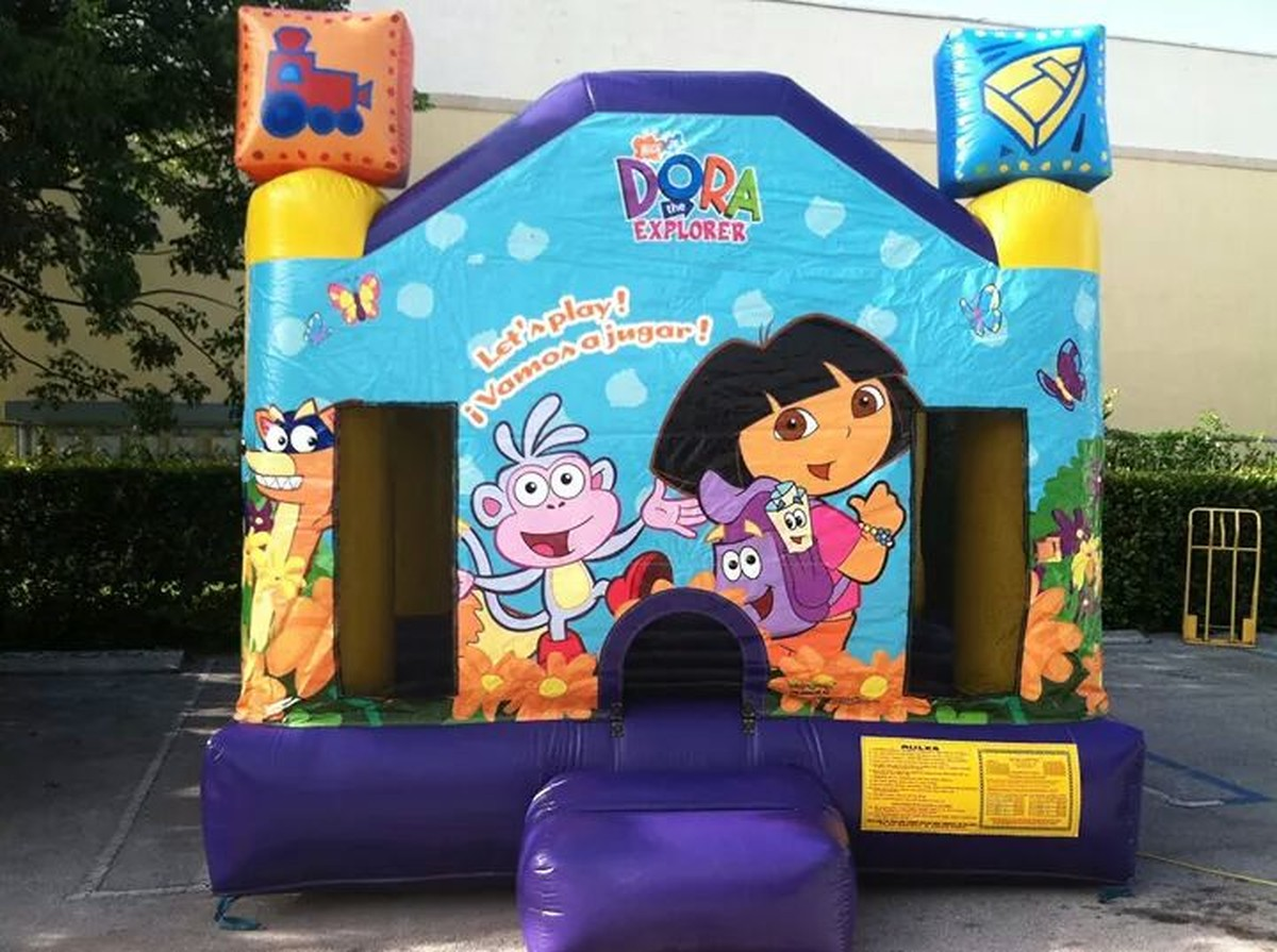 Dora bounce house full face